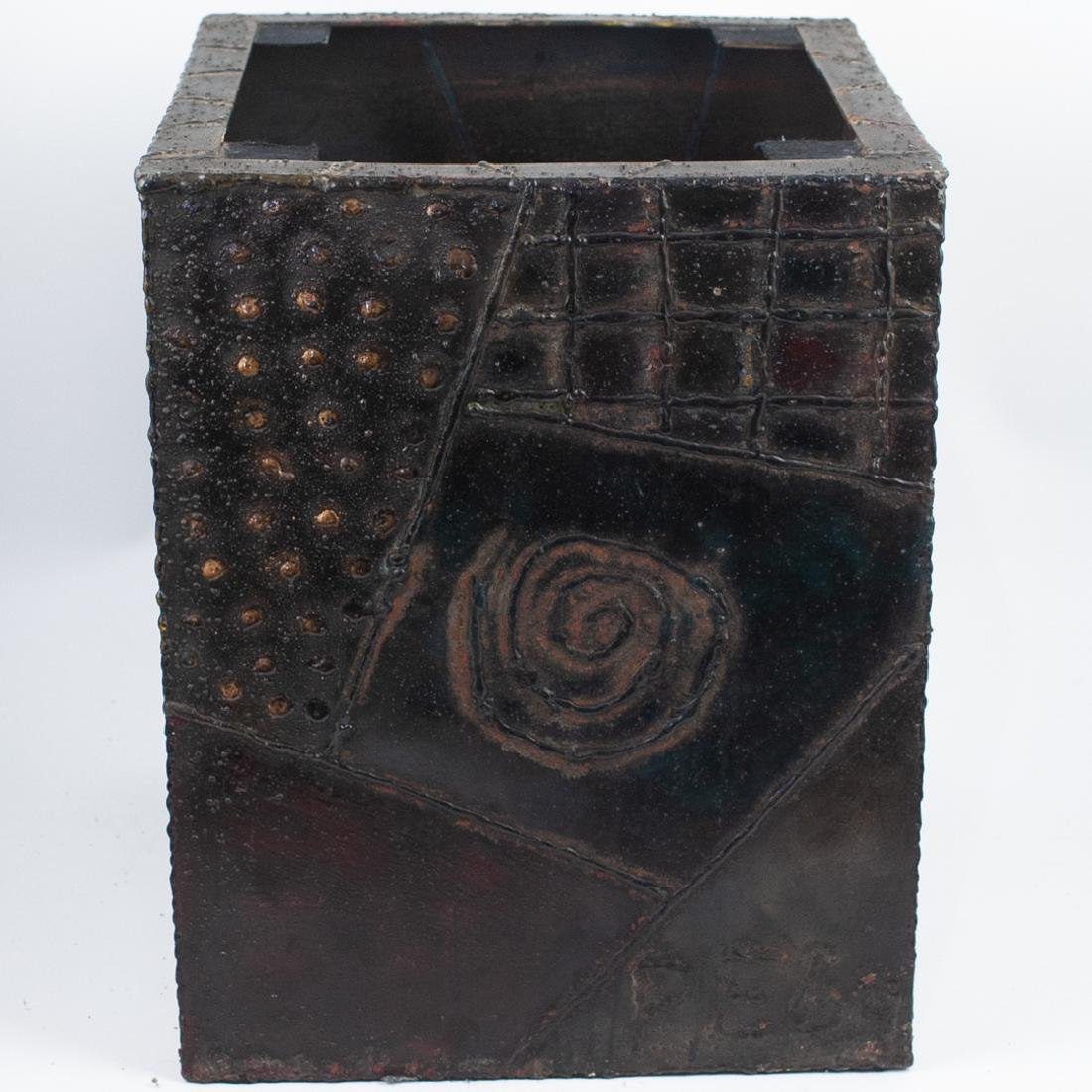 Paul Evans (American, 1931 - 1987) Sculpted Bronze Cube