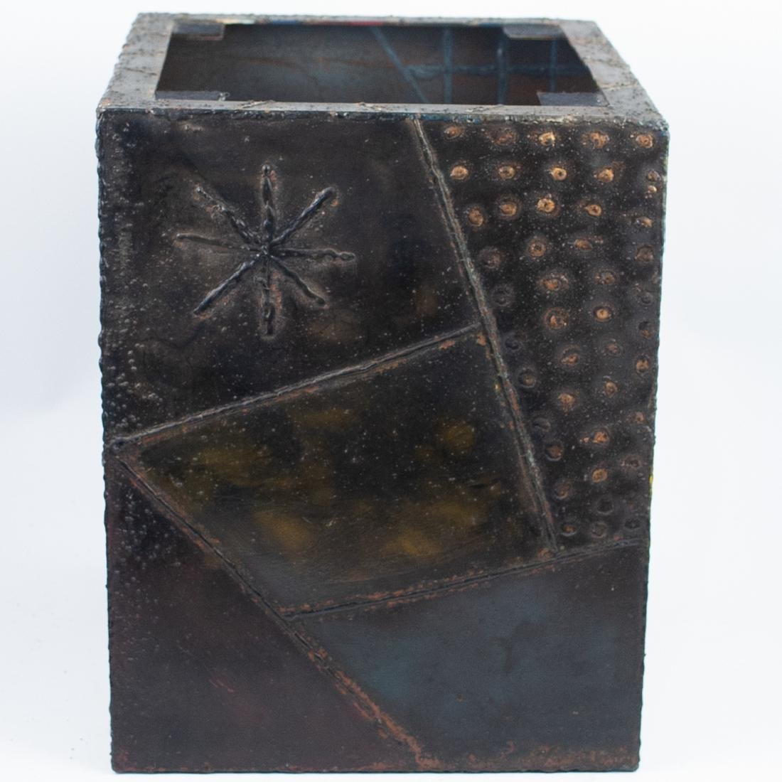 Paul Evans (American, 1931 - 1987) Sculpted Bronze Cube - 2