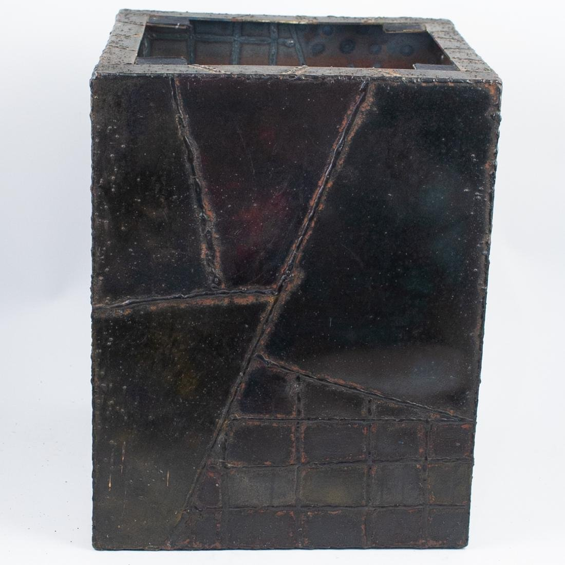 Paul Evans (American, 1931 - 1987) Sculpted Bronze Cube - 3