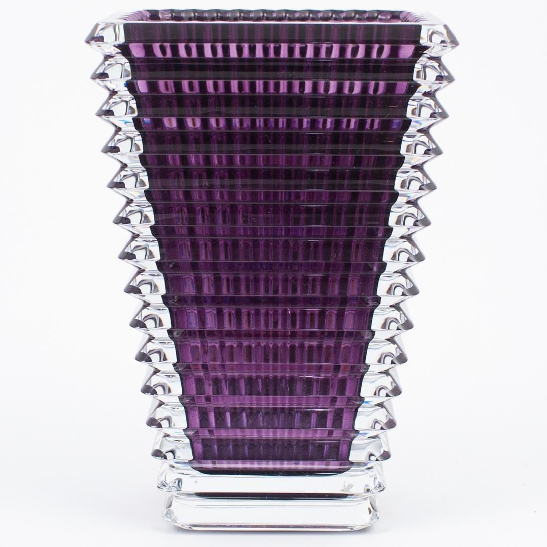 Baccarat Small Rectangular Eye Vase - 2