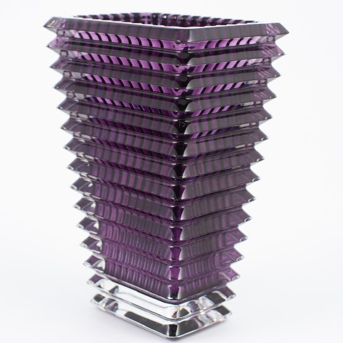 Baccarat Small Rectangular Eye Vase - 3
