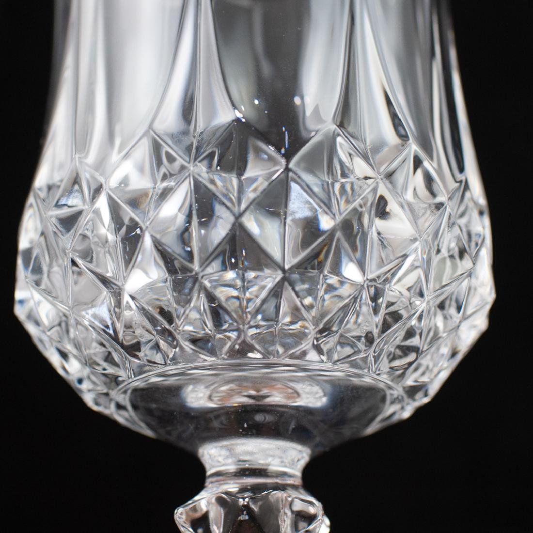 (12 Pc) Cut Crystal Wine Glasses - 3
