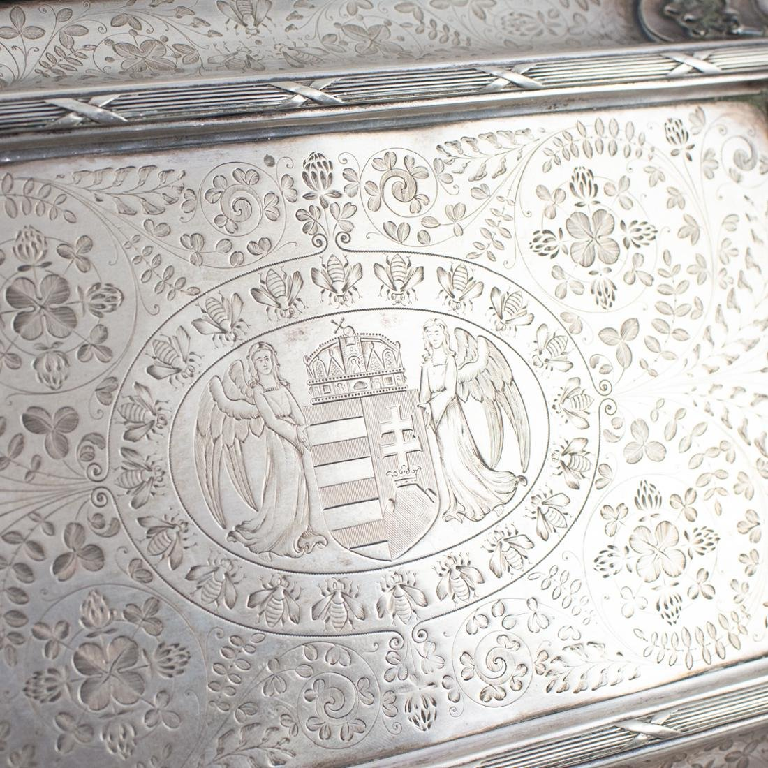 Antal Bachruch Antique Silver Jewelry Box - 4