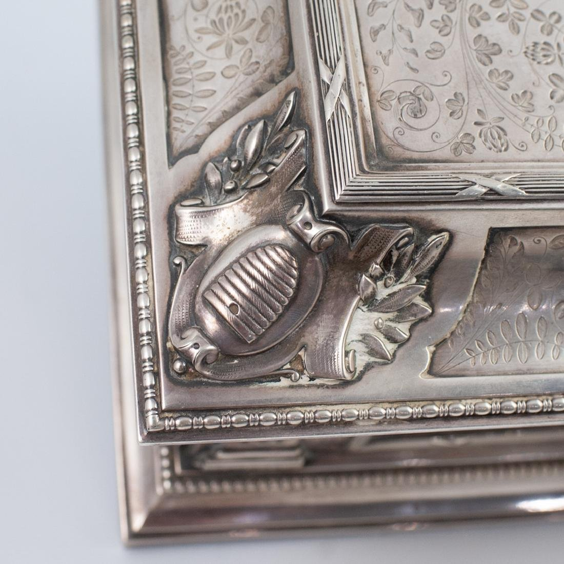 Antal Bachruch Antique Silver Jewelry Box - 5