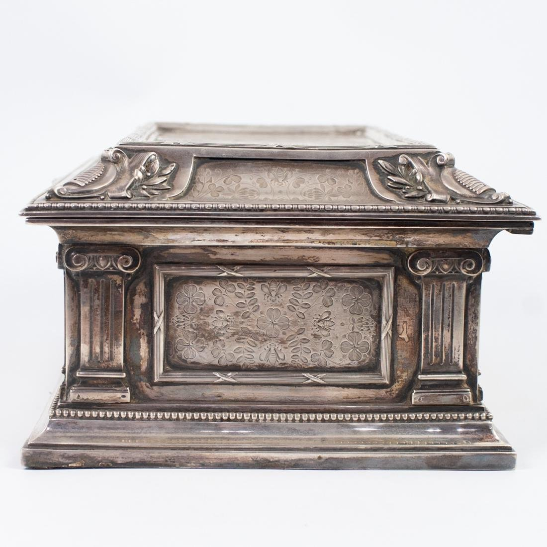 Antal Bachruch Antique Silver Jewelry Box - 8