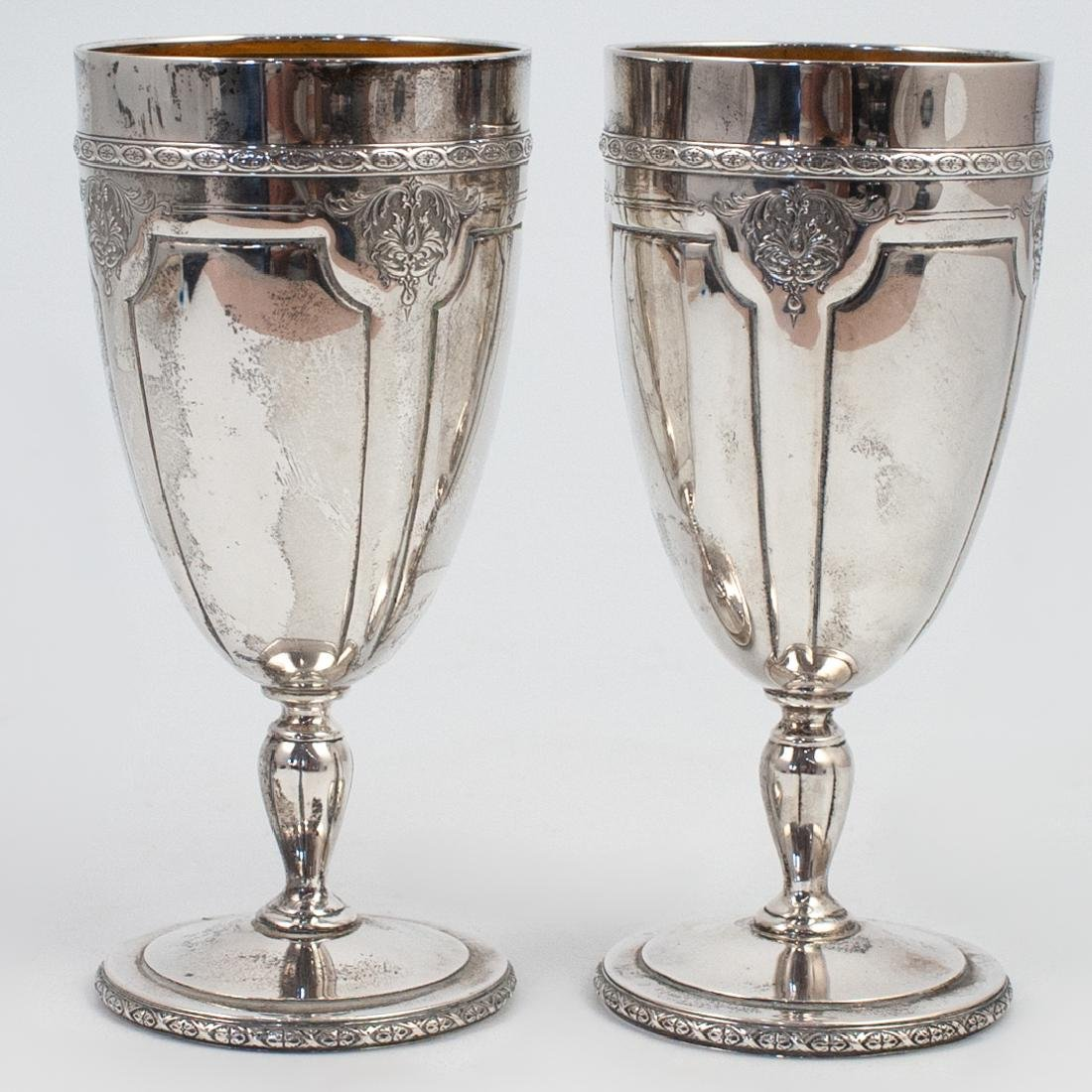 Pair of Louis XIV Sterling Silver Goblets