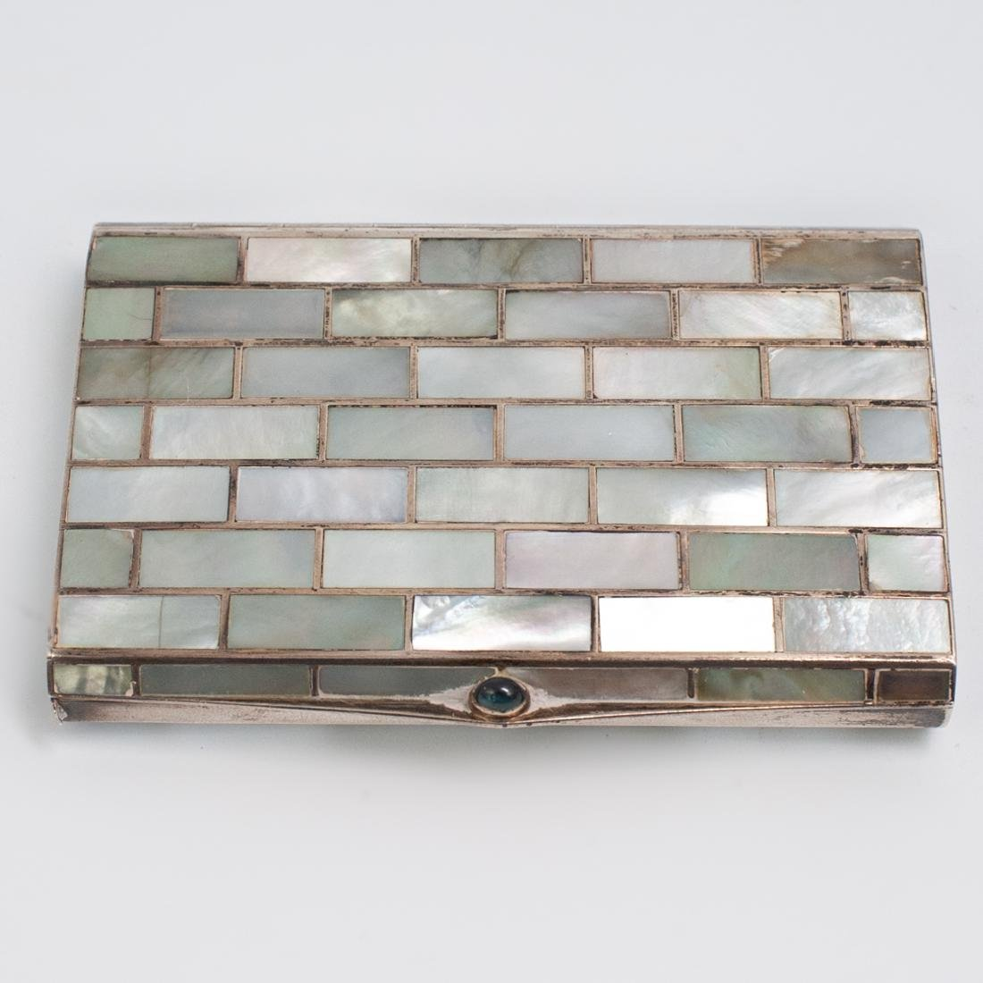 Silver and Mother of Pearl Inlaid Jewelry Box - 2