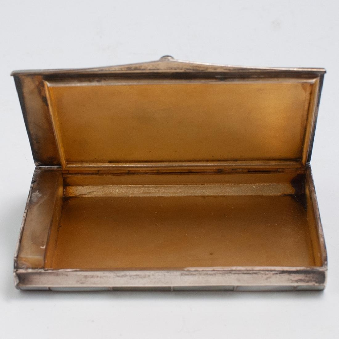 Silver and Mother of Pearl Inlaid Jewelry Box - 3