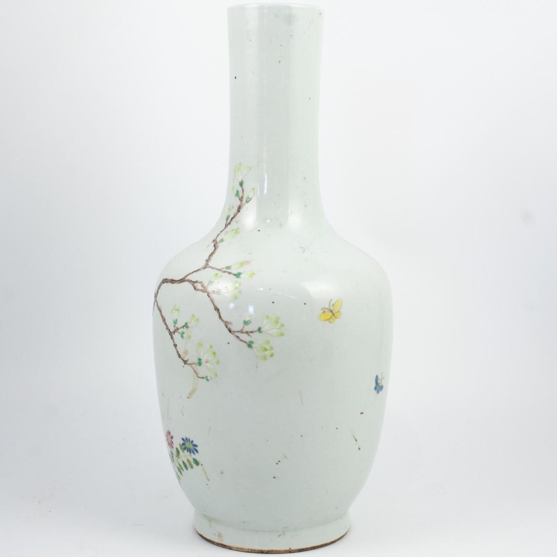 Chinese Qing Famille Rose Vase - 3