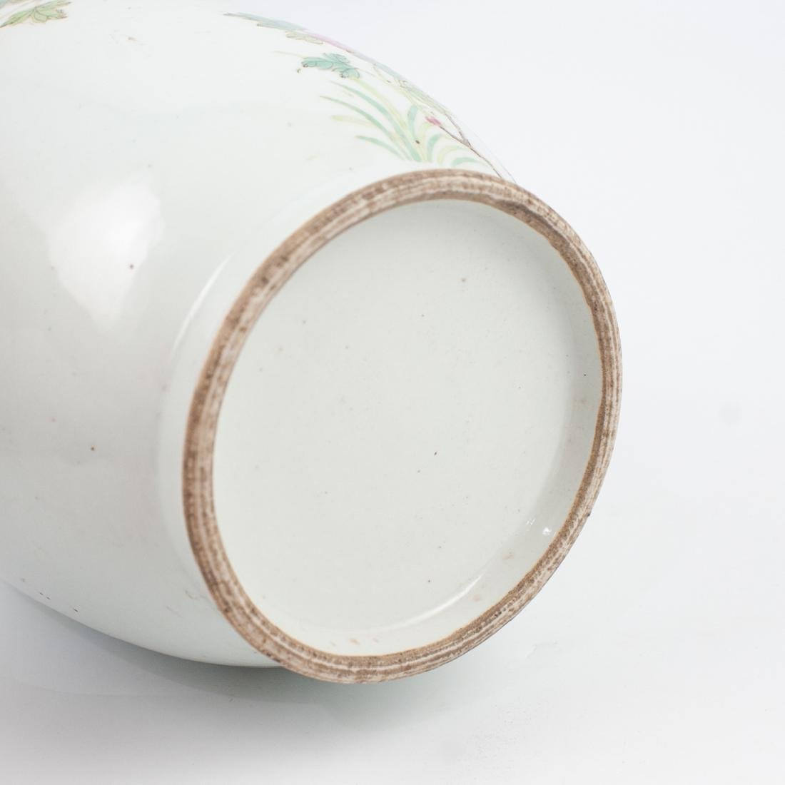 Chinese Qing Famille Rose Vase - 4