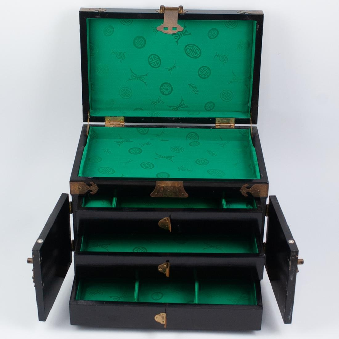 Antique Asian Lacquered Jewelry Box - 4