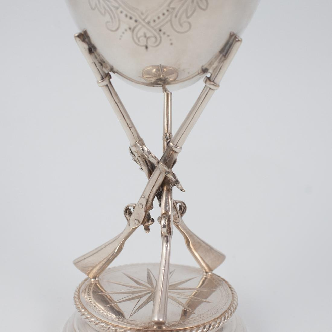 Silver Plated Rifle and Wreath Goblet - 3