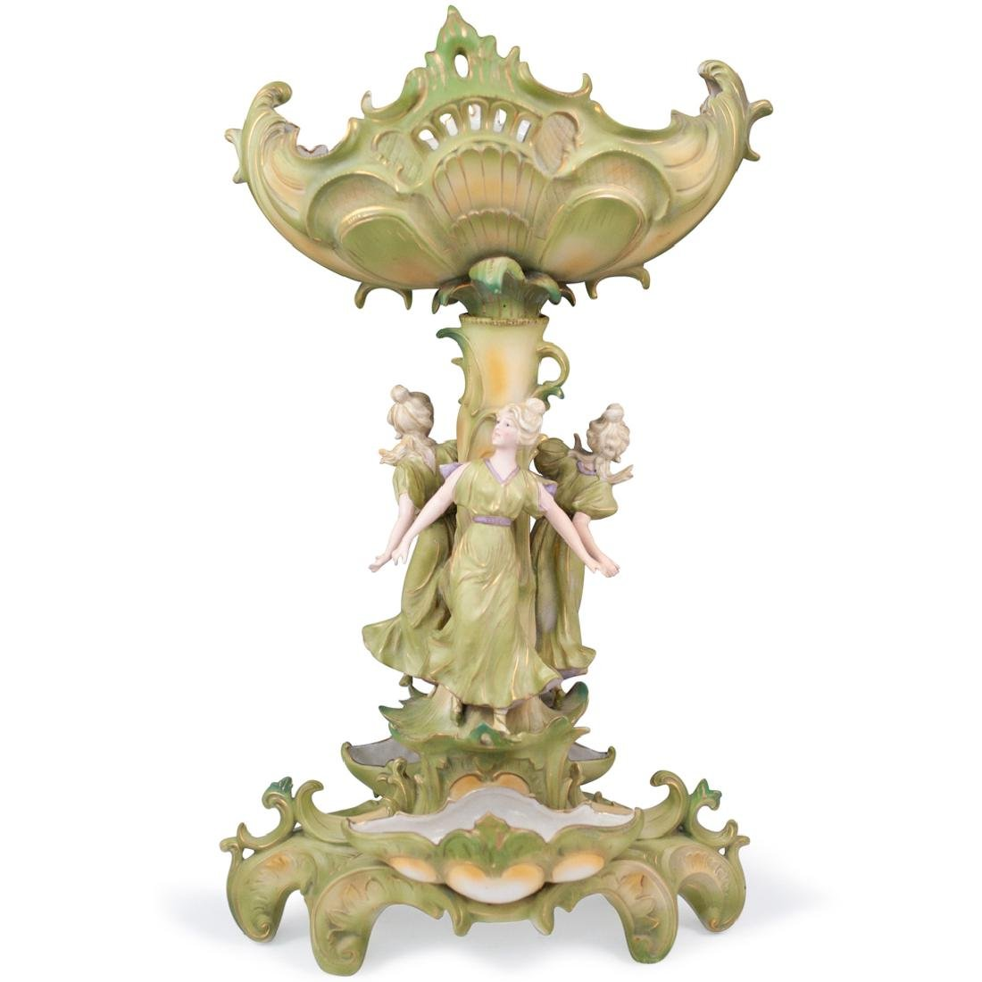 Royal Dux Style Figural Compote
