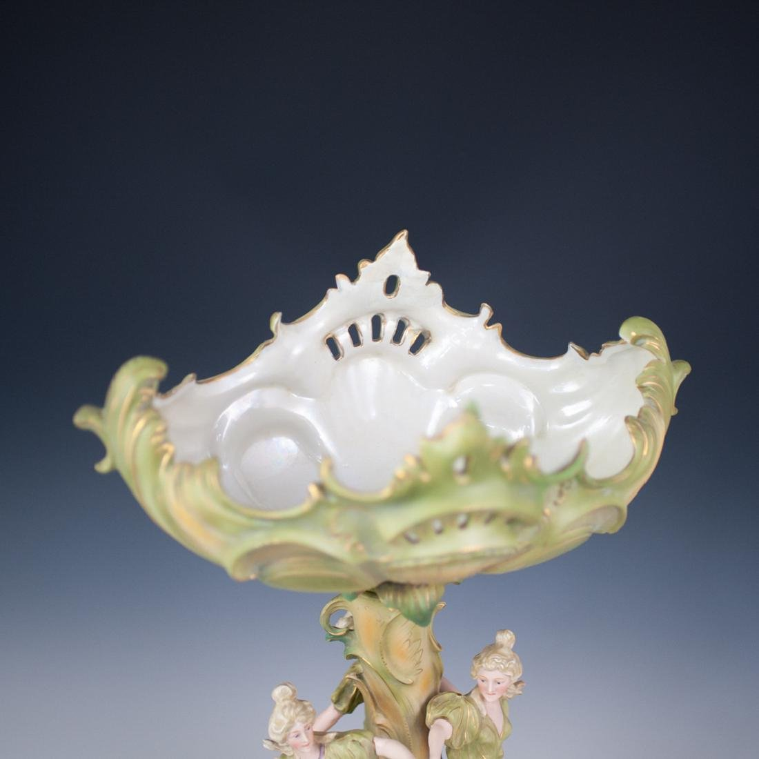 Royal Dux Style Figural Compote - 5