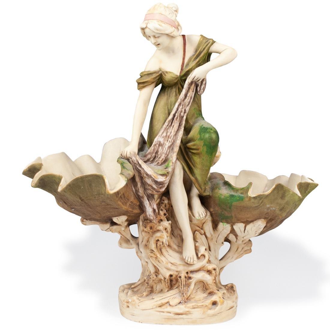 Art Nouveau Royal Dux Figural Centerpiece