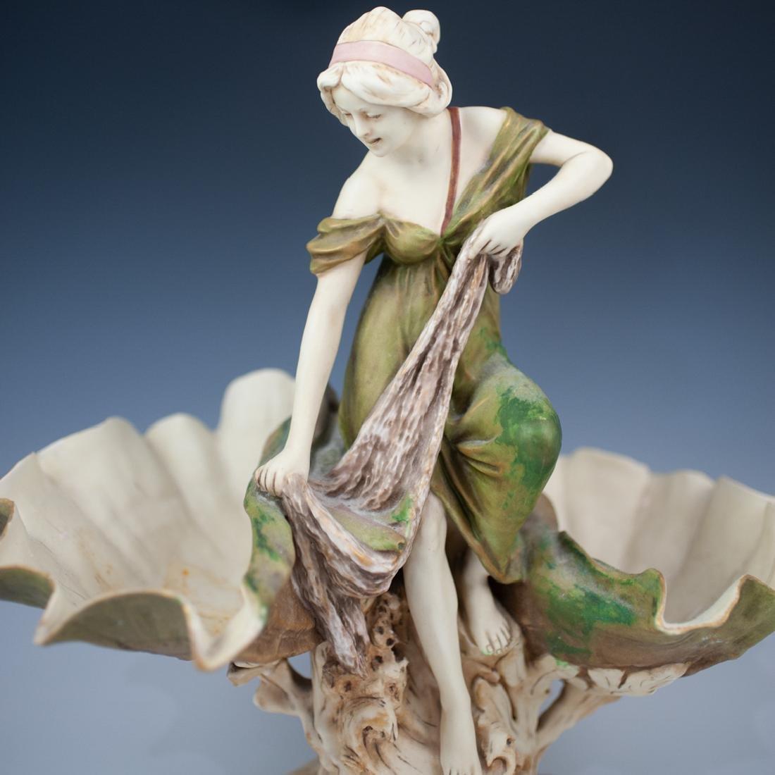 Art Nouveau Royal Dux Figural Centerpiece - 2