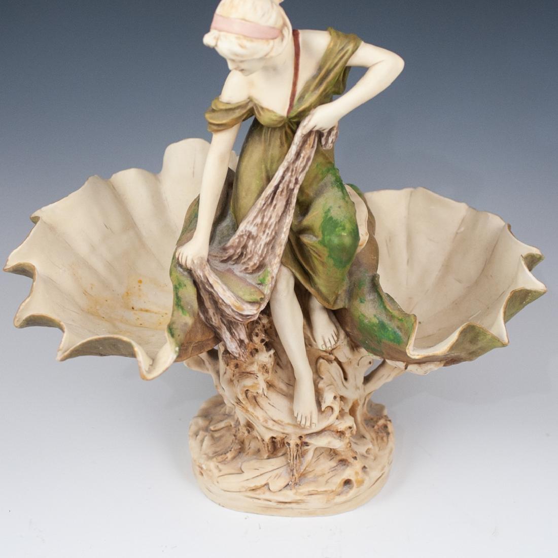 Art Nouveau Royal Dux Figural Centerpiece - 4