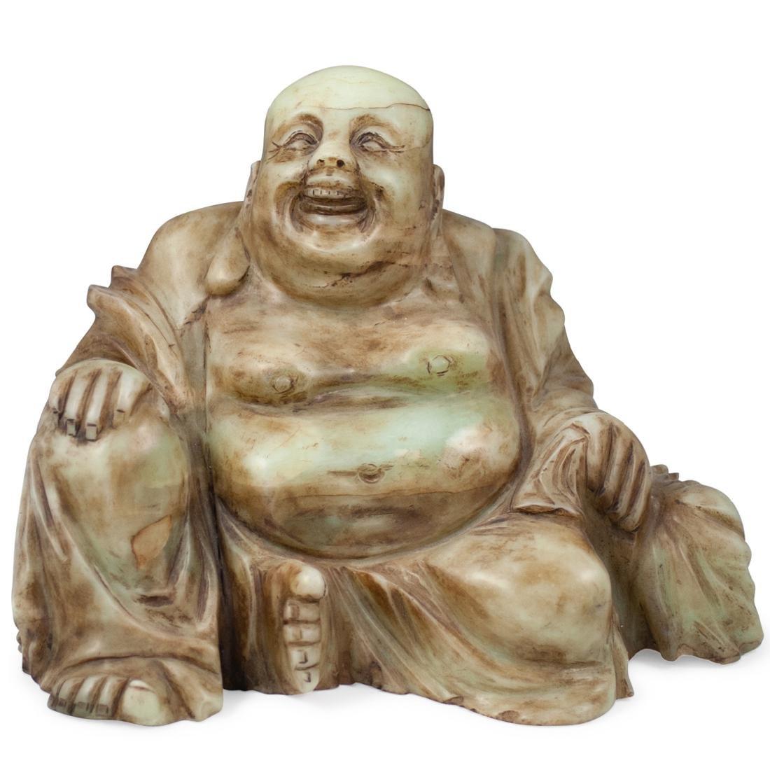 Chinese Jade Laughing Buddha