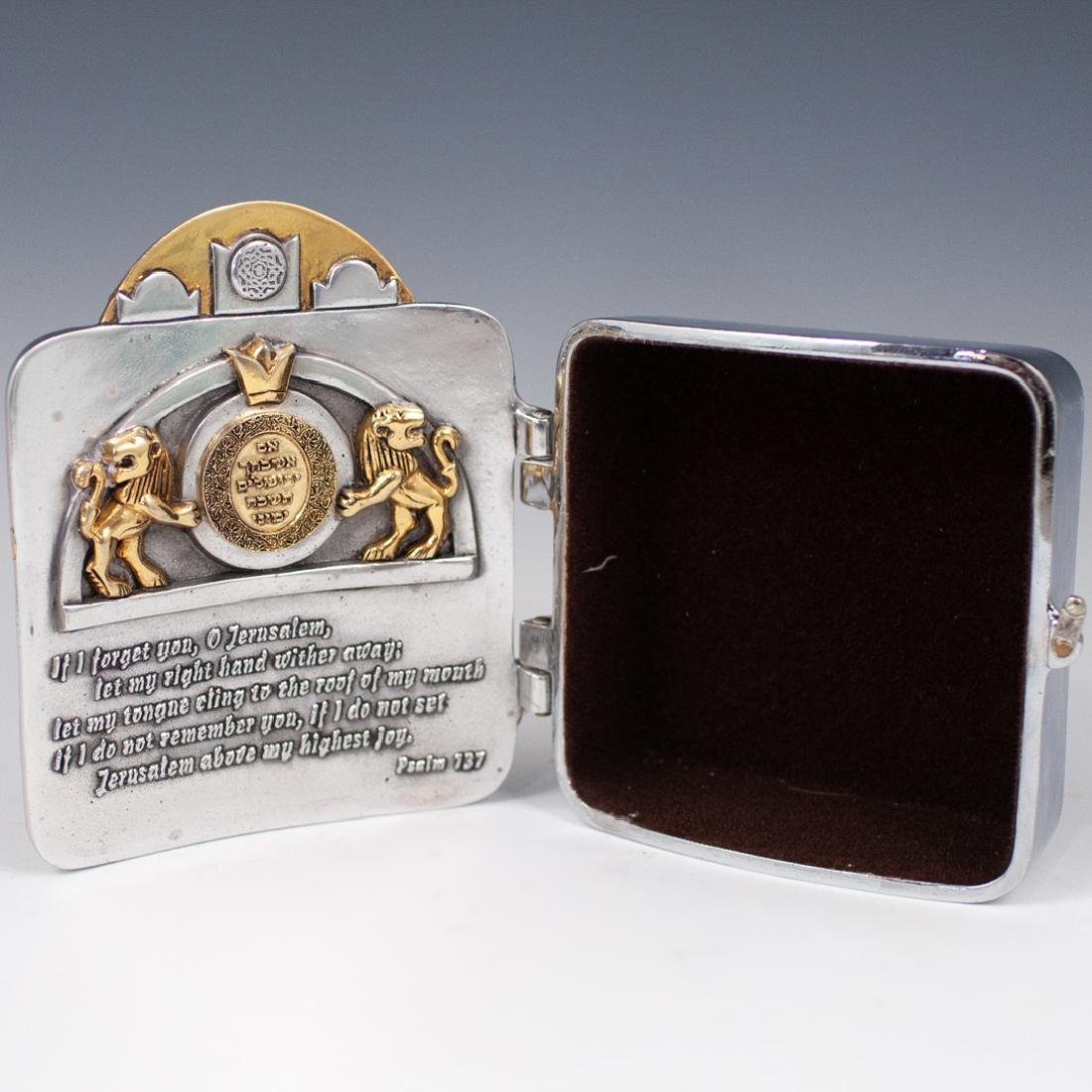 """Frank Meisler Silver Plated """"Pray For Peace"""" Box - 3"""
