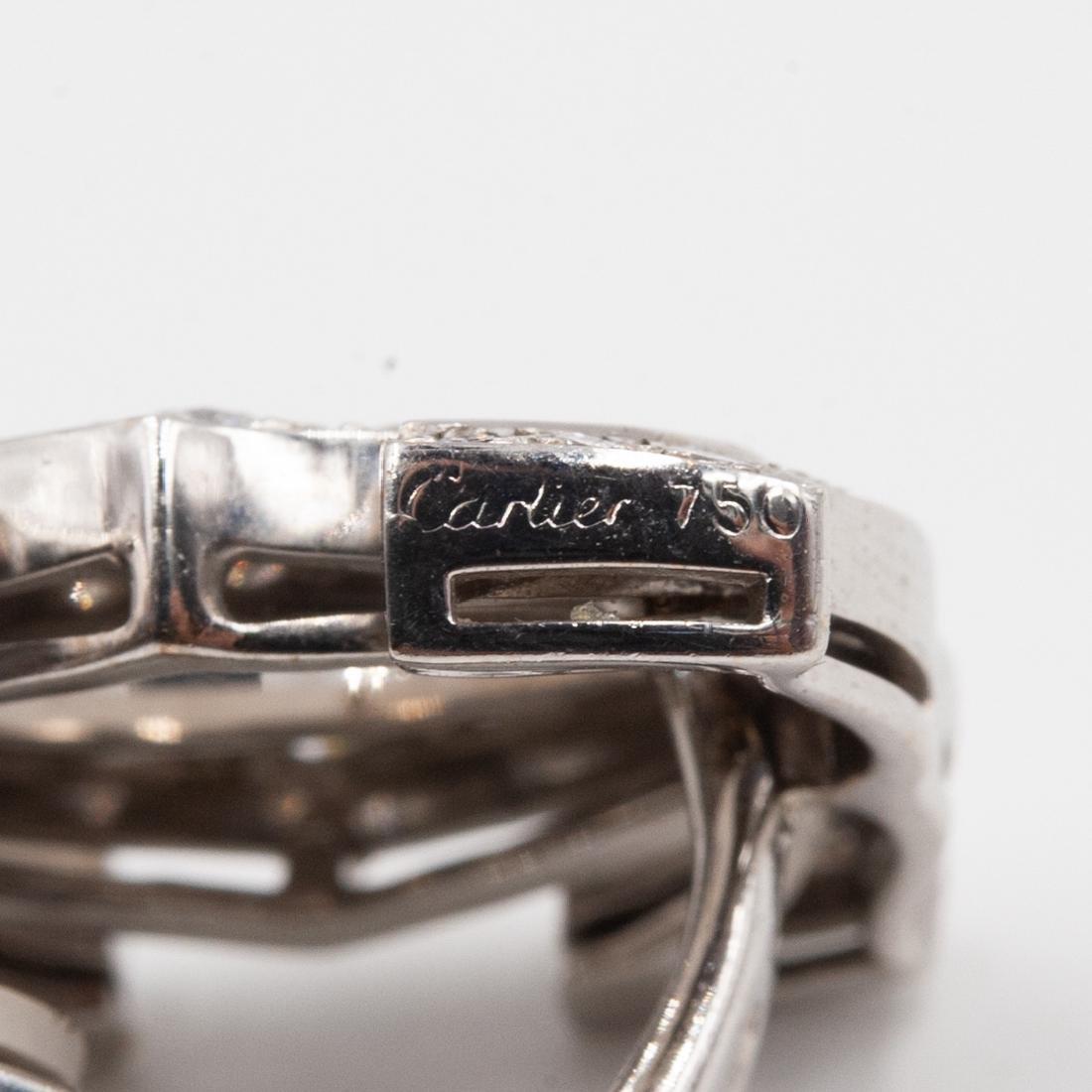 Pair of 18K Cartier C de Cartier Diamond Earrings - 3