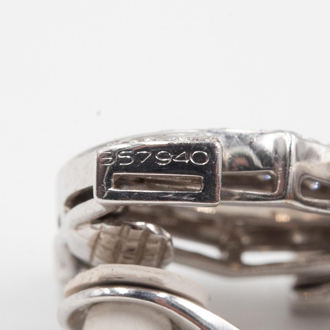 Pair of 18K Cartier C de Cartier Diamond Earrings - 4