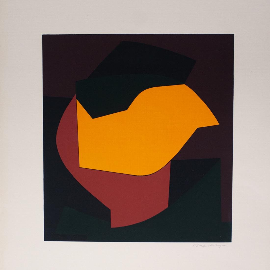 Victor Vasarely (Hungary/France,1906-1997) Screen Print