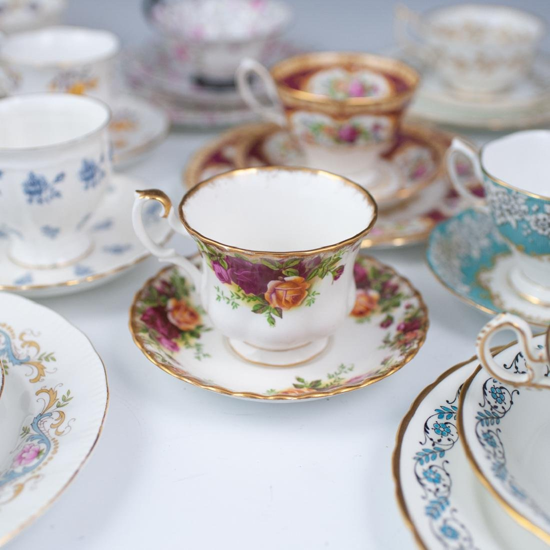(46 Pc) Collection of Miscellaneous Tea Set Trios - 3