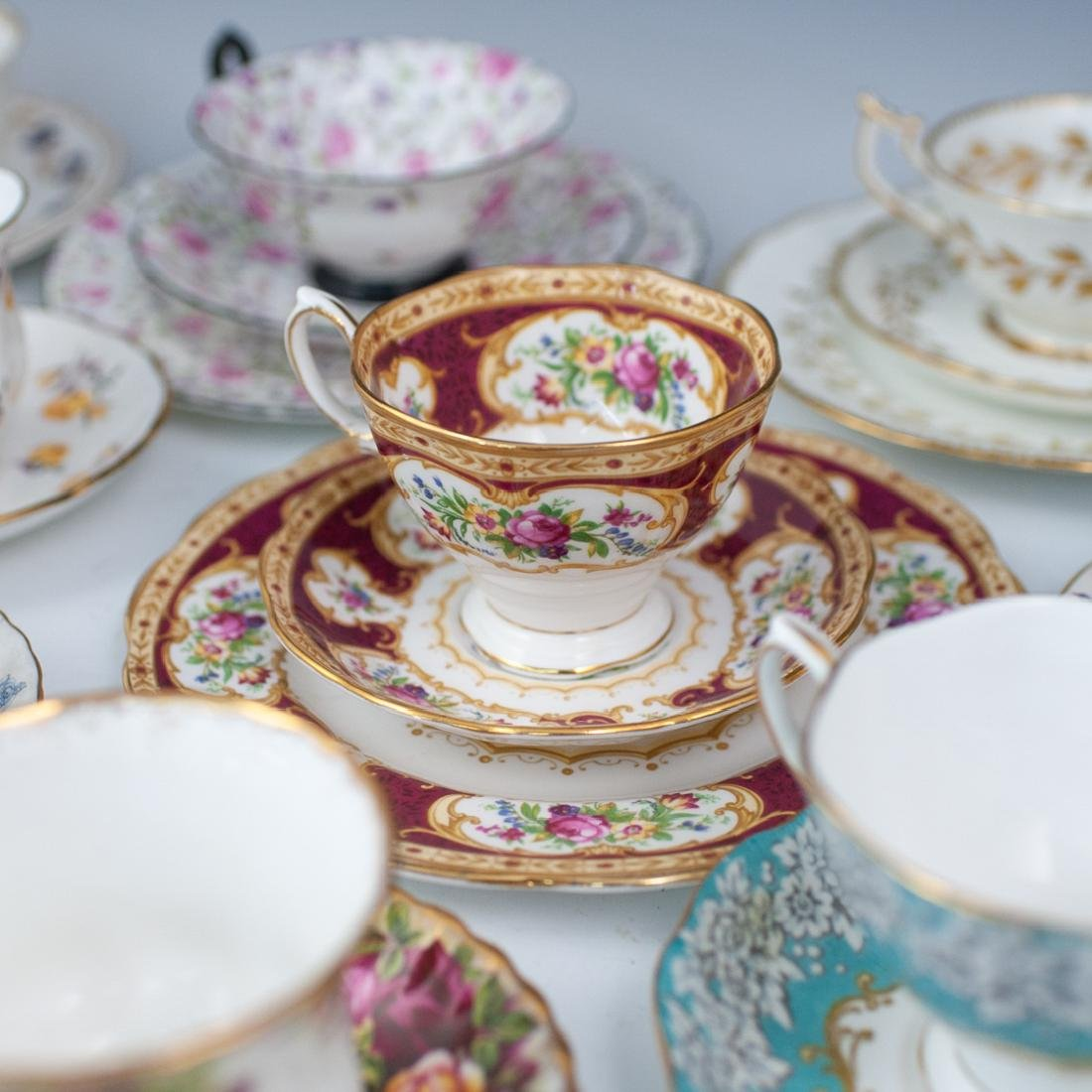 (46 Pc) Collection of Miscellaneous Tea Set Trios - 4
