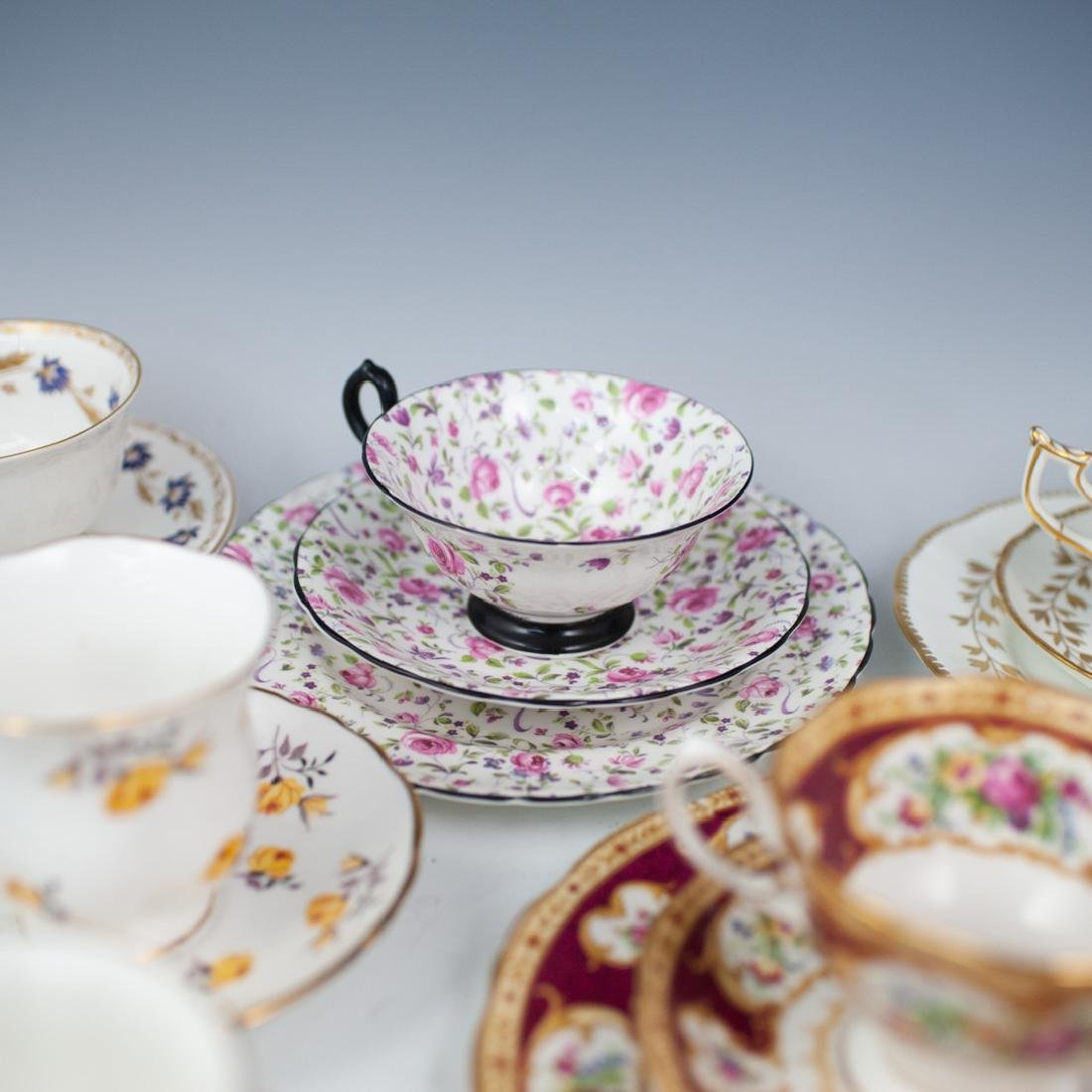 (46 Pc) Collection of Miscellaneous Tea Set Trios - 6