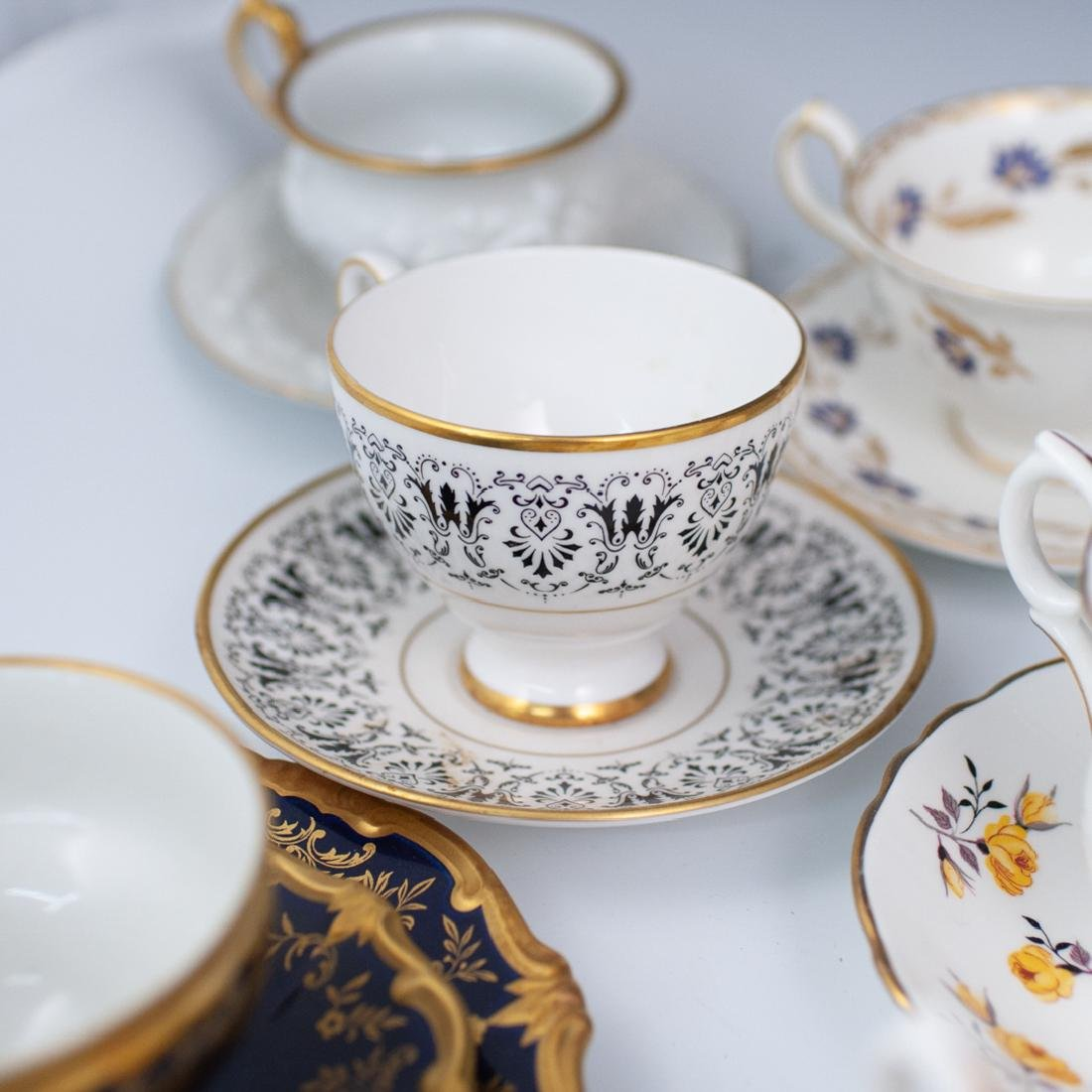 (46 Pc) Collection of Miscellaneous Tea Set Trios - 8
