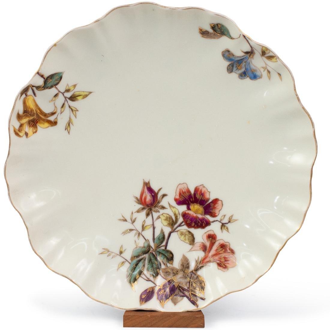 Limoges Porcelain Floral Serving Bowl