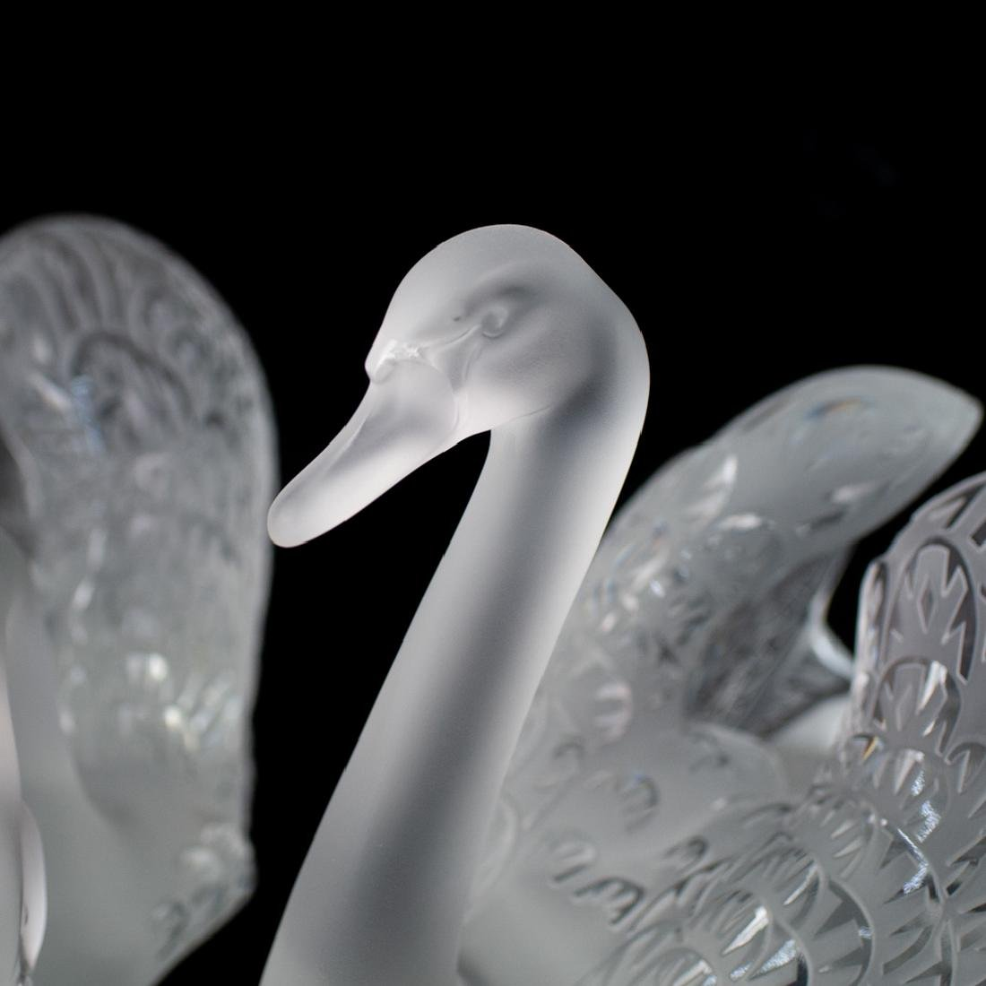 Pair of Lalique Crystal Swans - 2