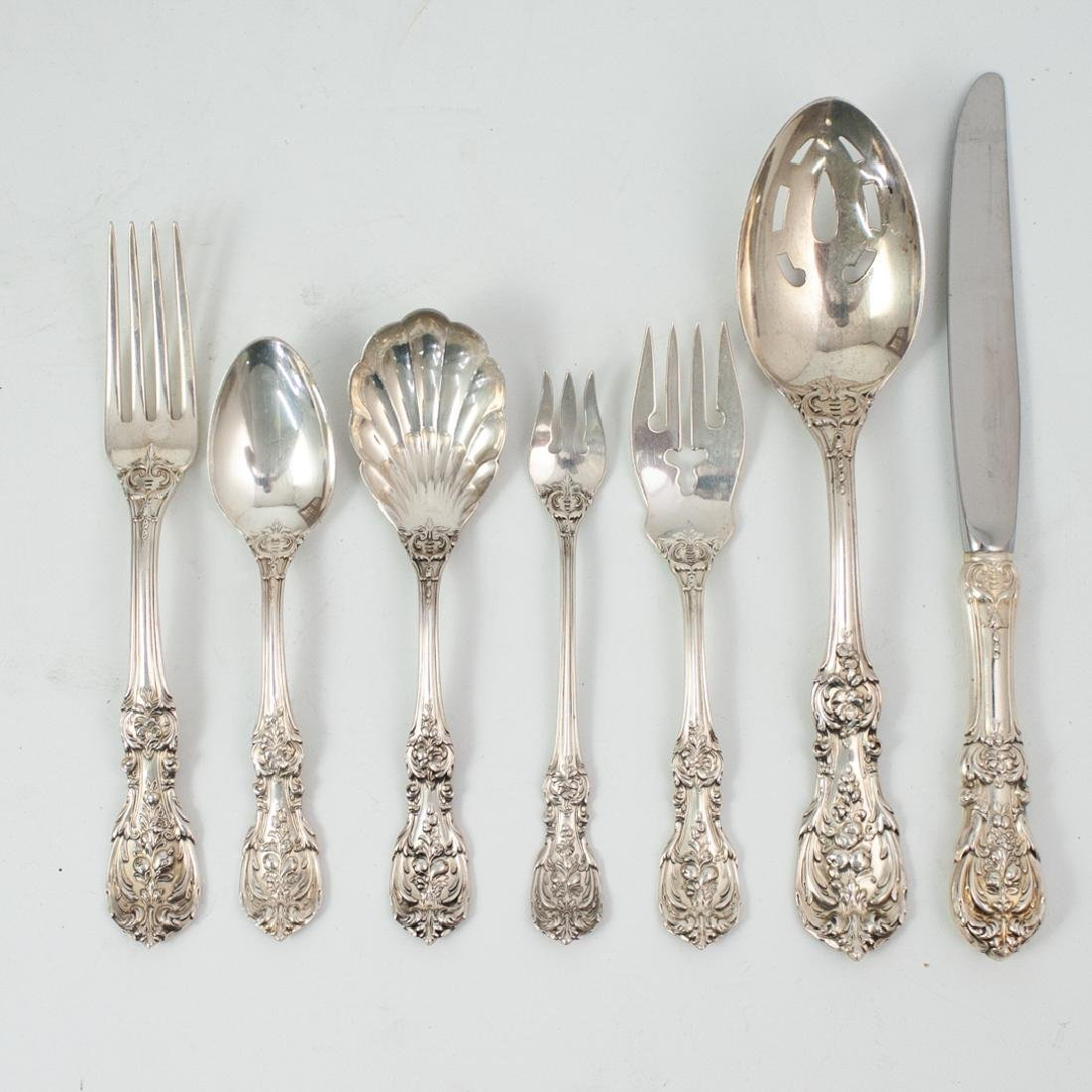 (91 Pc) Reed and Barton Sterling Flatware Service - 5