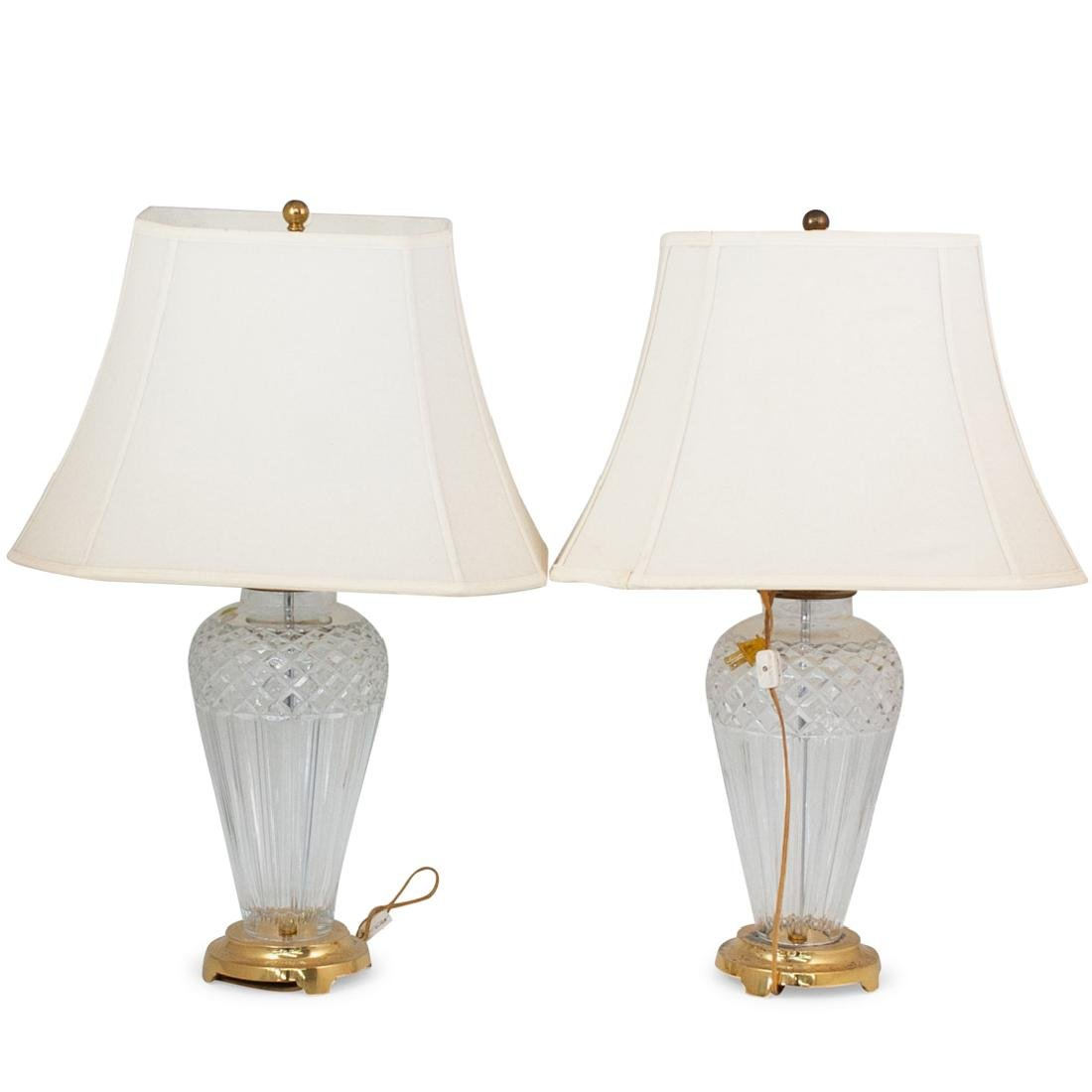 Pair of Waterford Crystal Lamps