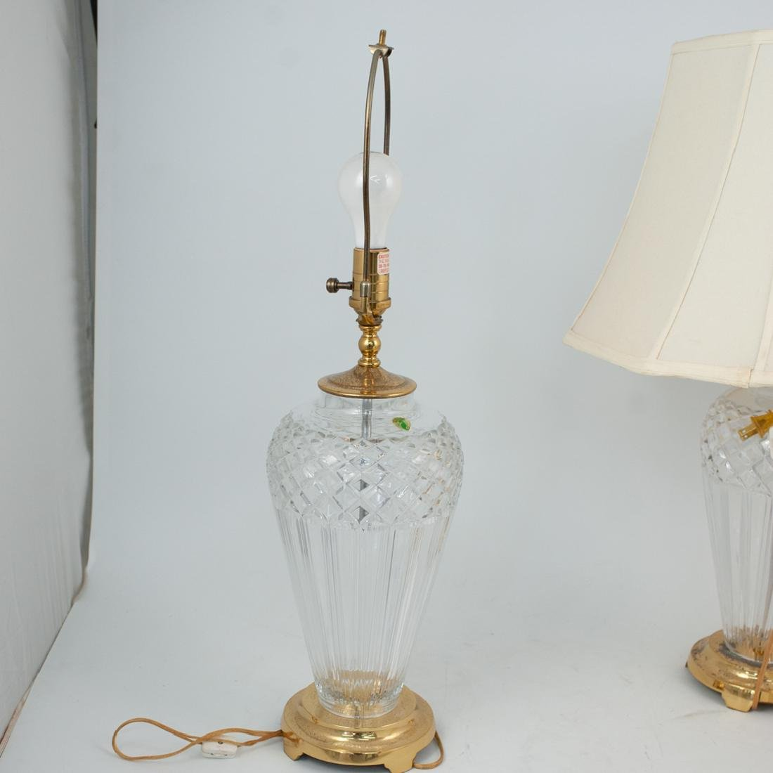 Pair of Waterford Crystal Lamps - 4