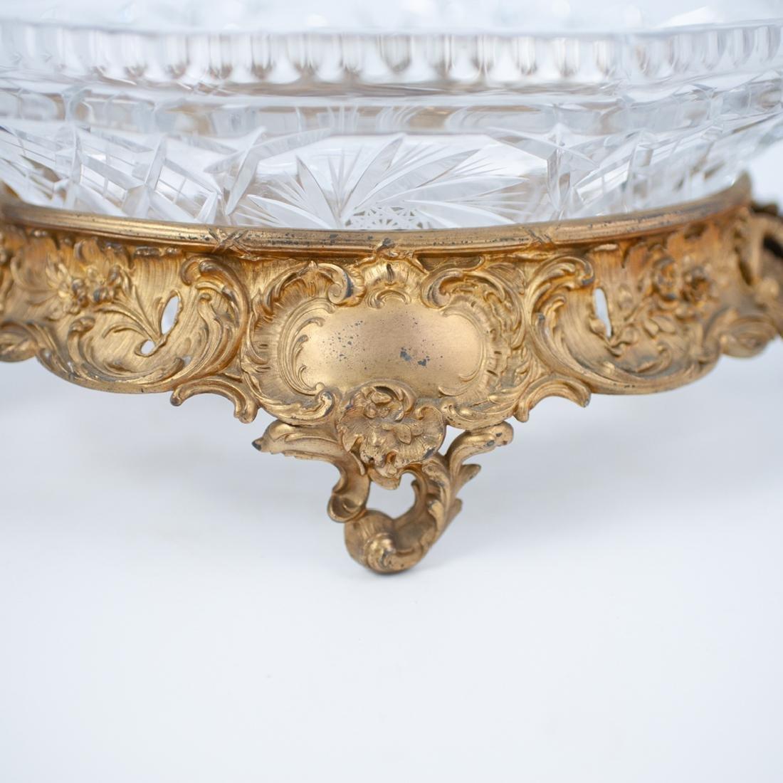 Gilt Bronze and Cut Crystal Centerpiece Bowl - 2