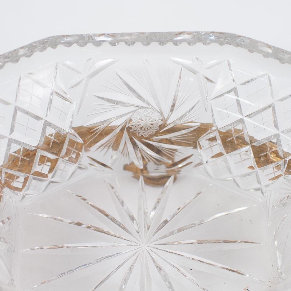Gilt Bronze and Cut Crystal Centerpiece Bowl - 3