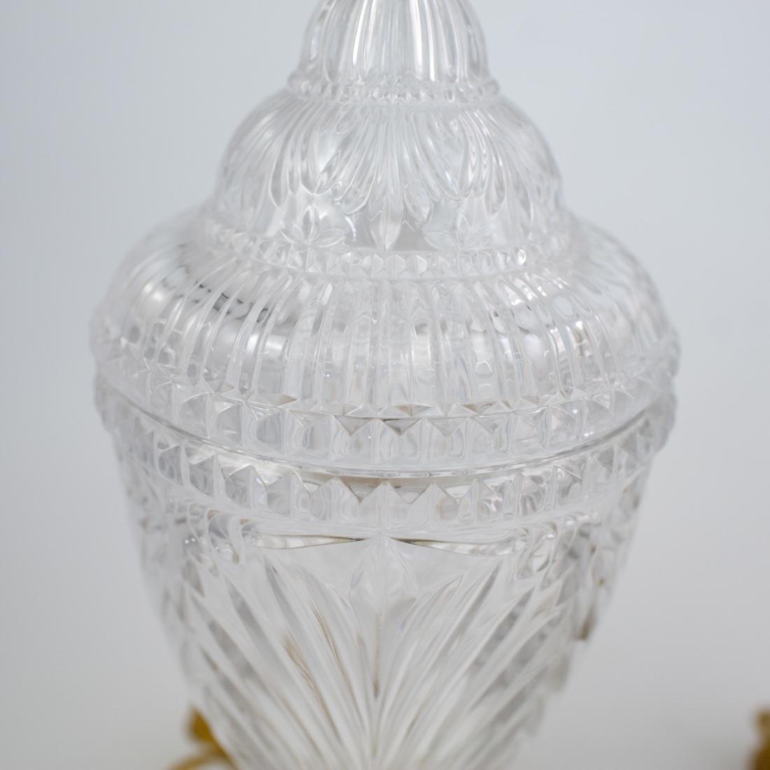 Pair of Cut Crystal Urn Lamps - 2