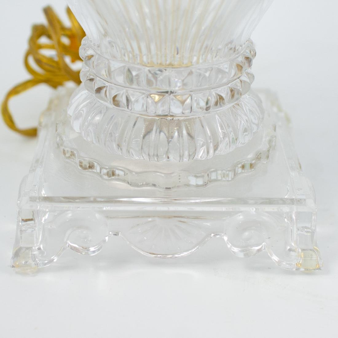 Pair of Cut Crystal Urn Lamps - 4