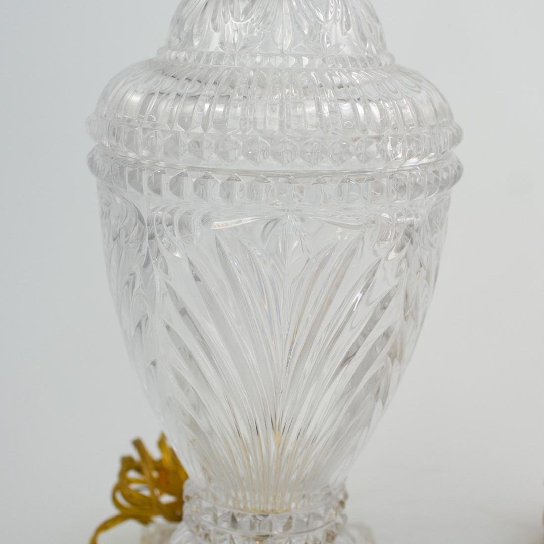 Pair of Cut Crystal Urn Lamps - 5