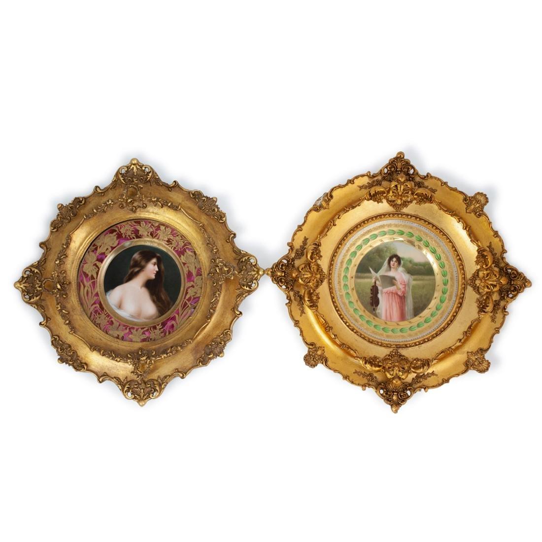 (2 Pc) Royal Vienna Porcelain Plates