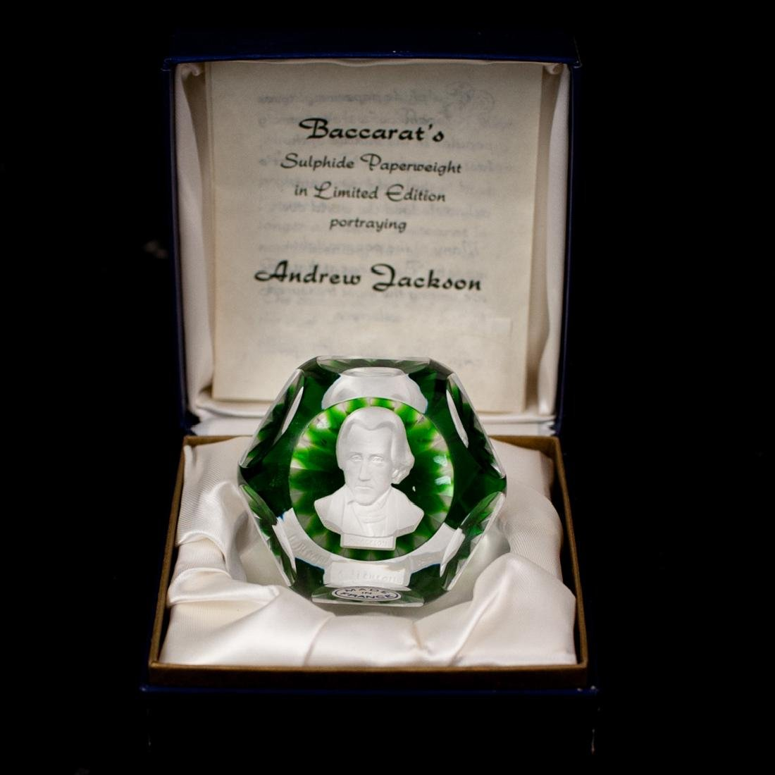 """Baccarat """"Andrew Jackson"""" Paperweight"""