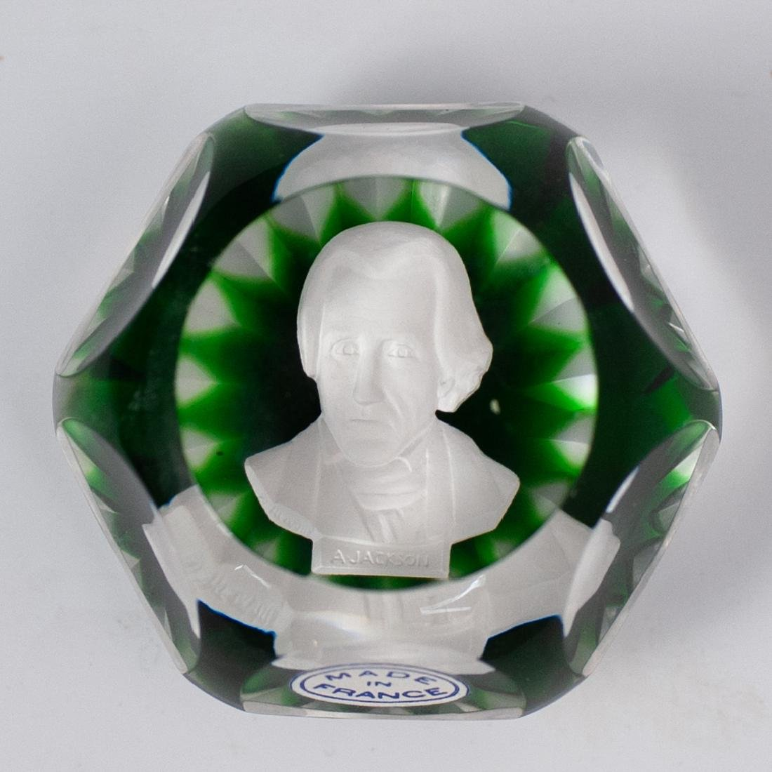 """Baccarat """"Andrew Jackson"""" Paperweight - 2"""