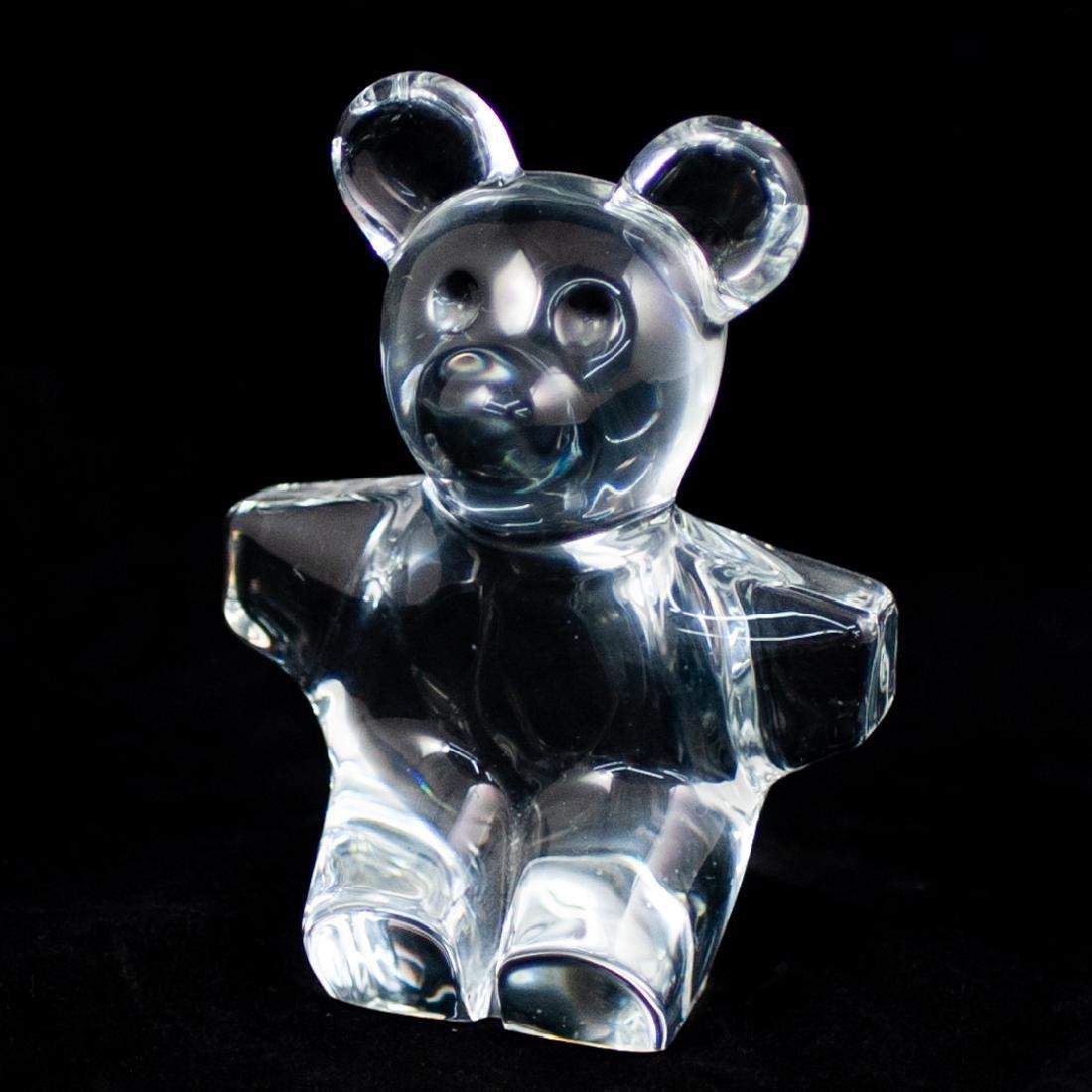 Daum Crystal Teddy Bear Figurine