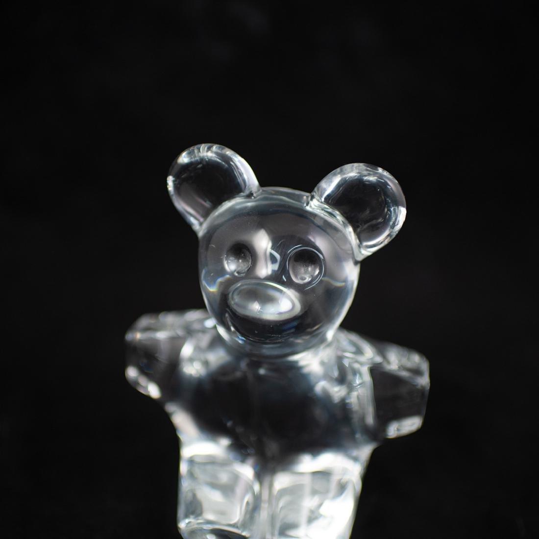 Daum Crystal Teddy Bear Figurine - 2