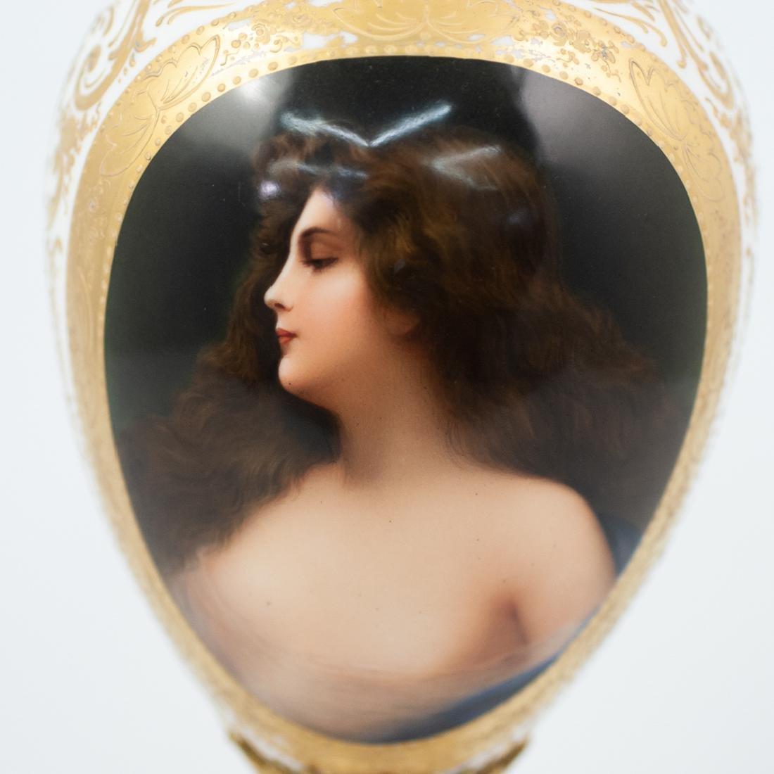 Sevres Porcelain and Gilt Portrait Vase - 3