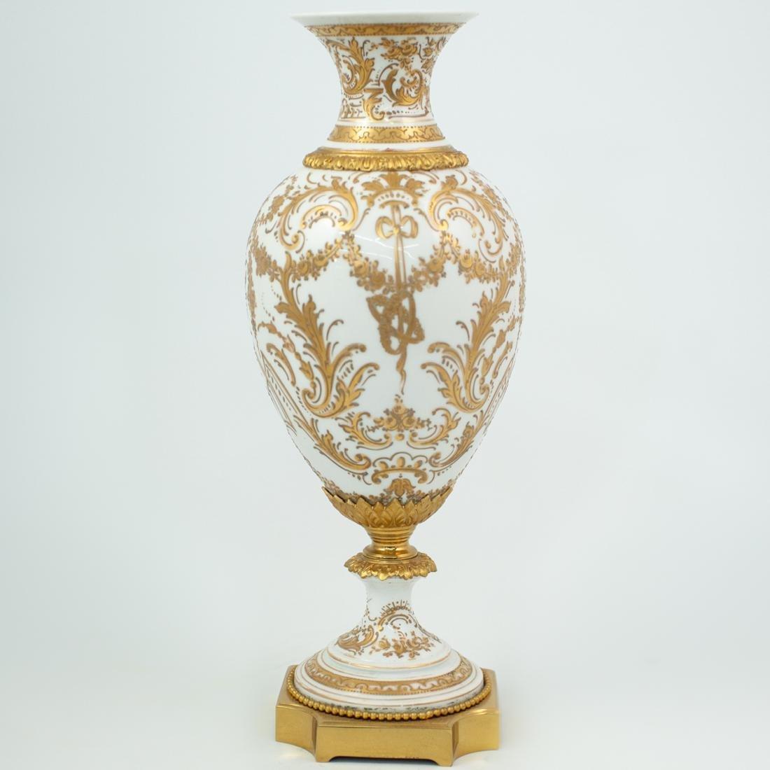 Sevres Porcelain and Gilt Portrait Vase - 5