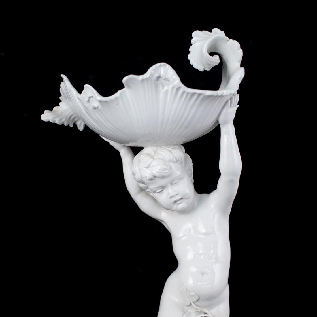 Italian White Porcelain Centerpiece - 2
