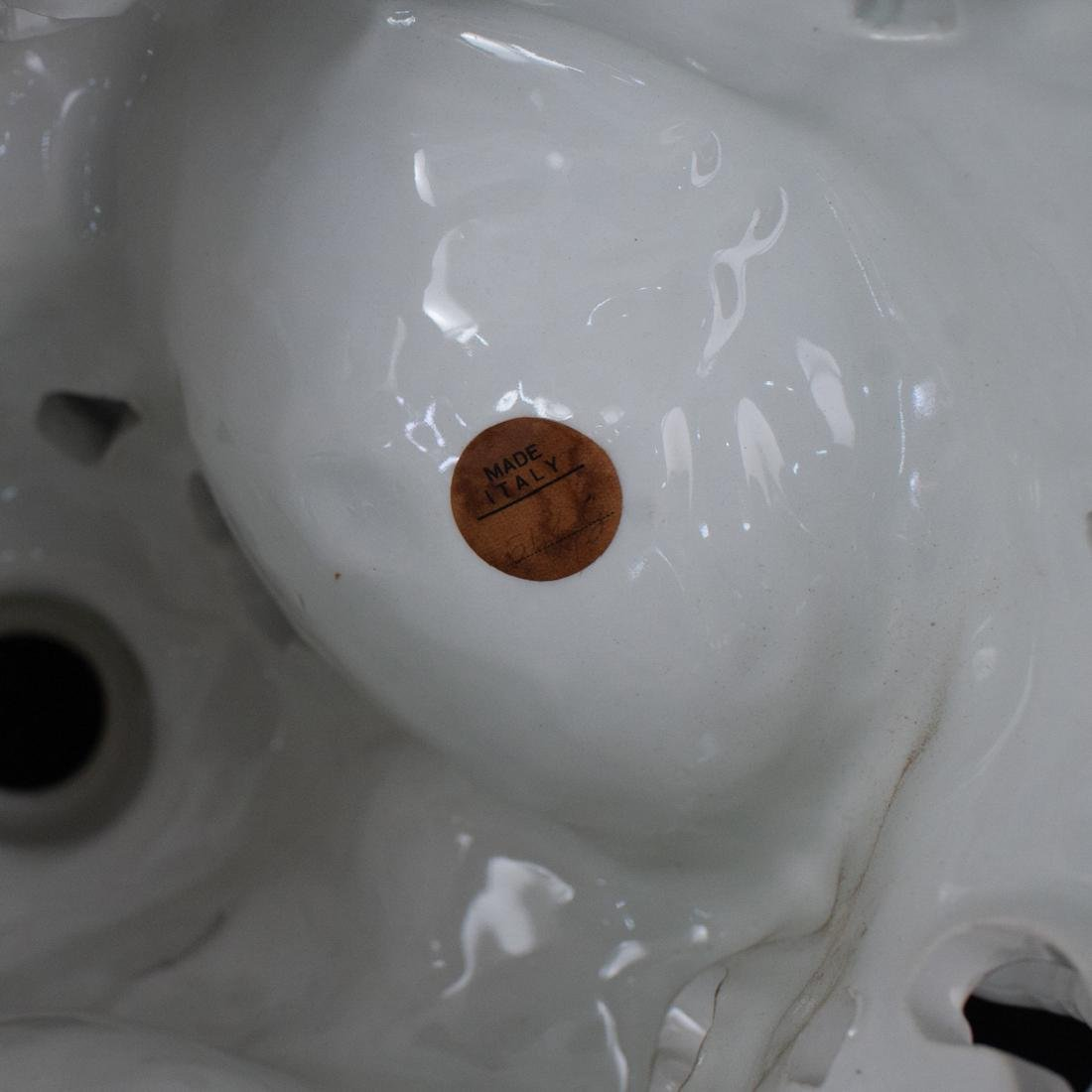 Italian White Porcelain Centerpiece - 8