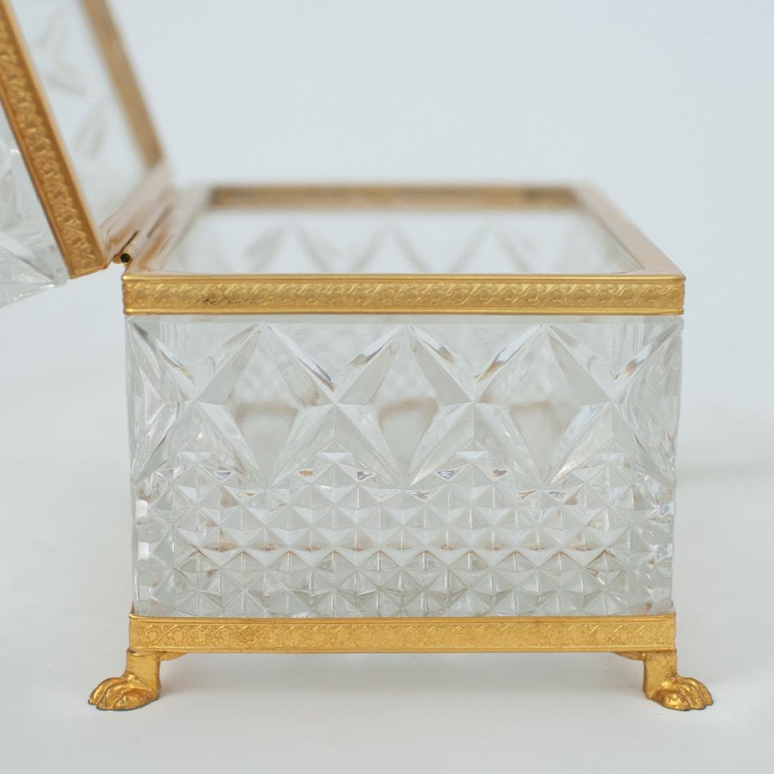 Antique Cut Crystal and Gilt Bronze Lidded Box - 3